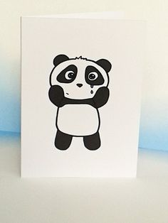 Sorry Card Cute Panda Card Miss You by penguinparadeshop on Etsy Cute Panda, Panda Hug, Diy Exploding Box, Sorry Cards, Sorry Gifts, Cool Birthday Cards, Sad Drawings, Art Diary, Miss You Cards