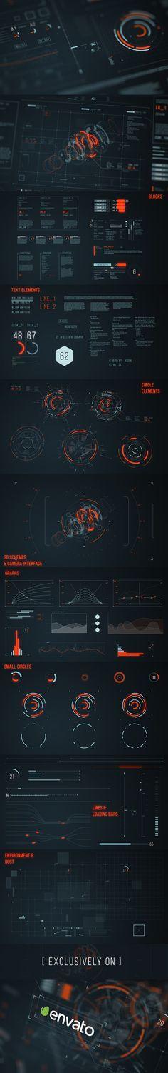 Infographics , UI Design et Web Design - HUD on Behance - CoDesign Magazine Ux Design, Game Design, Layout Design, Visualisation, Data Visualization, Motion Design, Web Mobile, Affinity Designer, Head Up Display