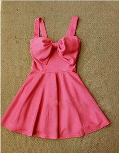 Cute Sleeveless Bow Dress