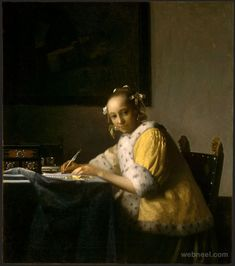 25 Most Popular Johannes Vermeer Paintings - Greatest Dutch Painter | Read full article: http://webneel.com/johannes-vermeer-paintings | more http://webneel.com/paintings | Follow us www.pinterest.com/webneel