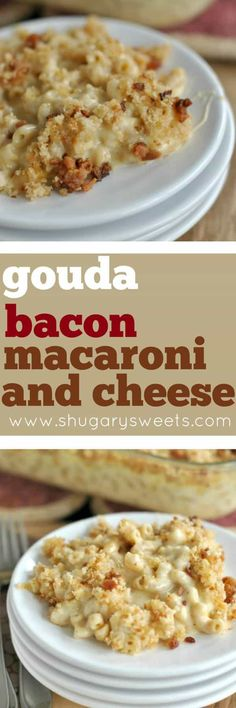 Nothing says comfort food like homemade Macaroni and Cheese! The gouda adds a creamy tang while the bacon adds a nice salty, smoked flavor! Try this at your next family dinner!