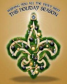 Saint's Fleur De Lis Christmas. #FleurDeLis #Saints #Christmas