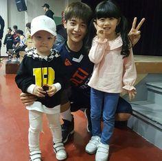 170305 Minho - Lee A Ra, G_vin_ceo's Instagram at the Korea Celebrity Basketball League .