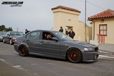 Grey e46 Sedan on Bronze BBS LM's with some baller gold bolts