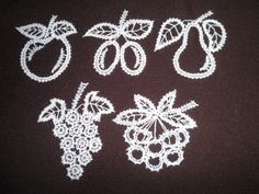 Bruges Lace, Lacemaking, Lace Heart, Lace Jewelry, Crochet Art, Bobbin Lace, Fruit, Lace Detail, Butterfly