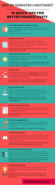 Best tips to boost your productivity in college - perfect for finals week.