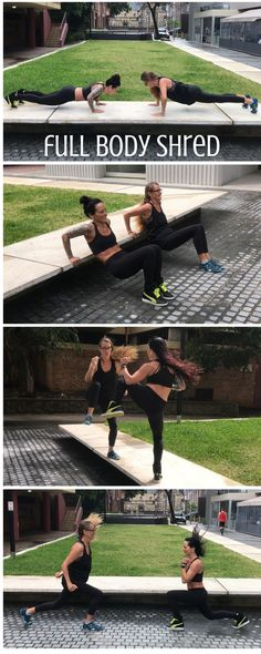 Try this brand new 12-minute Full Body Shred workout -