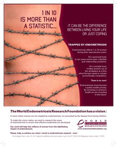 1 in 10 women have Endometriosis and feel like this too many days