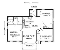 Very Small House Plans   mobile home floor plan is a very    House Plans   House Floor Plans  The Ranch House Design   My Home Idea