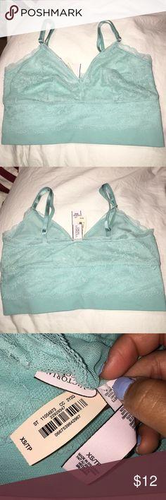 Victoria's Secret bralette Super cute turquoise bralette size XS. New never worn Victoria's Secret Tops