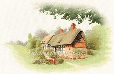 Buy Anne Hathaway's Cottage Cross Stitch Kit Online at www.sewandso.co.uk