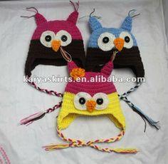 Owl Baby Hat Crochet, Knit Hat