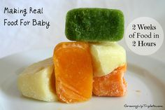 Two Weeks of Baby Food in Two Hours