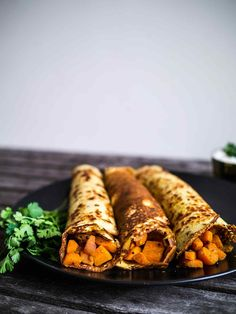 Indian Spiced Pancakes with Carrot filling   Discover Delicious   www.discoverdelicious.org   Vegan Food Blog