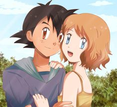 Pokemon Ships, My Pokemon, Pokemon Couples, Anime Couples, Pikachu Drawing, Pokemon Kalos, Pokemon Ash And Serena, Pokemon Poster, Cute Pokemon Wallpaper