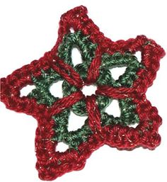 Star ornament freebie pattern. Very festive. Be lovely in golds... nice share, thanks xox