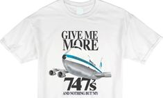 More 747s Flag Carrier Tee - Gate 72 White Tees, Gate, Give It To Me, Flag, Mens Tops, Accessories, Science, Ornament