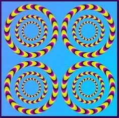 Take a look at this amazing Rotating Circles Optical Illusion illusion. Browse and enjoy our huge collection of optical illusions and mind bending images and videos. Optical Illusions Pictures, Illusion Pictures, Illusion Kunst, Illusion Art, Op Art, Eye Tricks, Foto Transfer, Magic Eyes, Mind Blown