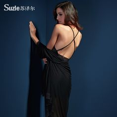 Ispită feminin pijamale sexy transparent Suze Er Shi Leisi la sling Lenjerie rochie V-gât trei piese de lenjerie sexy - Zuru air Services
