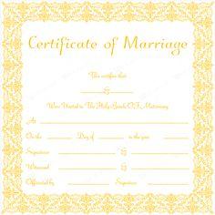 Marriage Certificate 05 - Word Layouts Certificate Layout, Marriage Certificate, Certificate Templates, Layouts, Pdf, Wedding Things, Sari, Wedding Ideas, Weddings