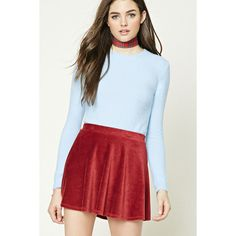 Forever21 Longline Fleece Sweater ($13) ❤ liked on Polyvore featuring tops, sweaters, light blue, longline tops, forever 21 tops, light blue top, fleece tops and forever 21
