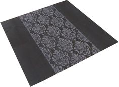 A beautiful Damask pattern engraved into 600mm x 300mm Black gloss porcelain tiles. 4 engraved tiles 4 plain.