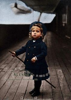 The last Tsarevich of Russia, Alexei Nikolaevich, in 1906.