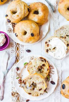Easy Vegan Homemade Cinnamon Raisin Bagels from Averie Cooks. Soft, chewy and oh-so-delicious, these bagels are the perfect comforting breakfast, bursting with raisins and subtle hints of cinnamon. The simple dough recipe is a blank canvas - instead of cinnamon and raisins, you can add other ingredients, sweet or savory, to create any flavor bagels you like!