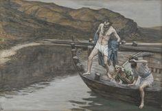 James Tissot - Saint Pierre averti par Saint Jean que le Seigneur est là se jette à l'eau