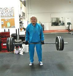 She's 82 years old, what's your excuse for not working out today??