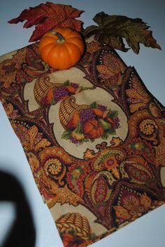 Fall Harvest//Thanksgiving Handwoven Fair Trade Cloth Napkins