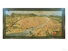 """The """"Carta Della Catena"""" Showing a Panorama of Florence, 1490 Giclee Print - AllPosters.co.uk"""
