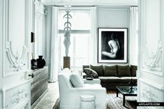 Gilles et Boissier Interior Design of a French Apartment. Reposted by Habitually Chic design interior design interior design 2012 room design White Interior, Modern French Interiors, Home, Interior, Beautiful Apartments, White Rooms, House Interior, Interior Architecture, Apartment Interior