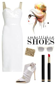 """Embellished heels"" by kotnourka ❤ liked on Polyvore featuring Victoria Beckham, Forest of Chintz, Gucci and STELLA McCARTNEY"