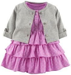 Carter's Baby Girls' 2 Piece Dress Set (Baby) - Purple - 3 Months