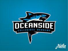 Oceanside Landsharks Logo by designsbyhahn on DeviantArt Shark Logo, Fish Logo, Academy Logo, School Logo, Retro Logos, Sport Quotes, Design Reference, Logo Inspiration, Logo Design