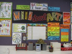 display showing class rules- from the blog There's a Dragon in the Art Room.