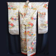 Vintage Japanese Woman's Wedding Kimono Uchikake Bridal Dress - Wisteria