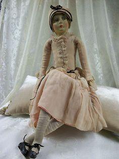 Vtg 1920's Art Deco 27 inch Flapper Boudoir Doll | eBay