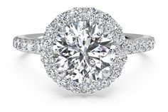 Round Cut French-Set Halo Diamond Band Engagement Ring in Palladium 0.45 CTW - Shadow?w=640&h=430&fit=fill&fm=jpg&q=65&bg=fff