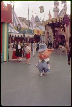 Pork roast anyone? Fantasyland, 1962.