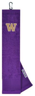 Team Effort NCAA Face/Club Embroidered Golf Towel - University of Washington