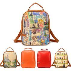 HOT Stamps Spray Chart Bolt Lock Backpack Portable Shoulder Diagonal Female Bag Shoulder Strap Can Be Adjusted China, School Bags, Luggage Bags, Shoulder Strap, Shoulder Bags, Fashion Bags, Leather Handbags, Backpacks, Tote Bag