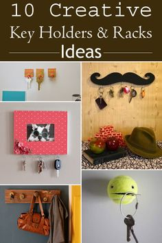 10 ideas on how to make creative key holders & racks for your home.
