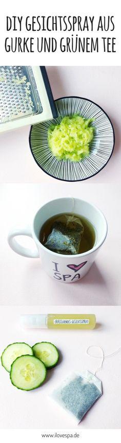 DIY Gesichtsspray Gurke & Grüner Tee - Naturkosmetik selber machen - DIY Toner aus Gurke und Grüntee