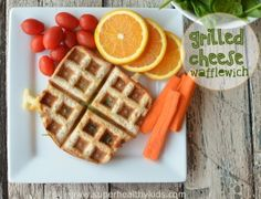 Healthy Grilled Cheese Wafflewich | Healthy Ideas for Kids