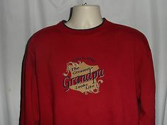 Greatest Grandpa Sweatshirt By M&C Sport Size XL Mens Red Pullover