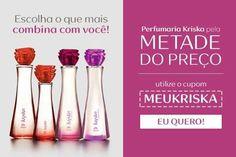 🚨🚨🚨 Kriska 50% OFF 🚨🚨🚨 Compre um ou mais Kriska e PAGUE SÓ A METADE utilizando o Cupom MEUKRISKA no final da compra 👌 Perfume, Gender, Lipstick, Beauty, Shopping, Coupon, Deodorant, Lipsticks, Cosmetology