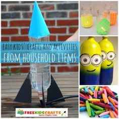 UPDATED! 50 Kids Activities and Easy Kids Crafts from Household Items