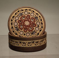 Russian birch bark box